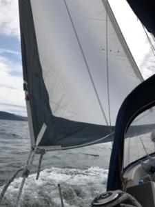 schönes Segeln vorbei an der Isle of Muck