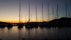Piskera bei Sonnenuntergang